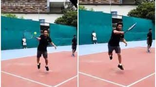 Sachin Tendulkar Smashes a Forehand, Seeks Advice From Tennis Champion Roger Federer | WATCH